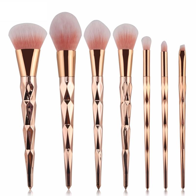 Best Sale 7/10pcs Makeup Brushes Set Powder Foundation Eye Shadow Face Blush Blending Cosmetics Beauty Make Up Brush Tool