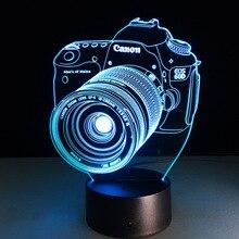 Neuheit 3D Lampe Kamera Illusion LED USB Lampe Touch RGB 7 Farbwechsel Tisch Nachtlicht Nacht Dekoration LED Lampe dropship