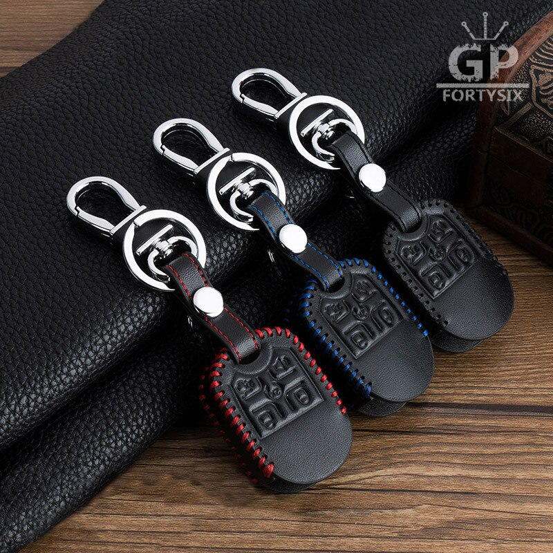 Carro genuíno saco de couro de controle remoto chaveiro do carro caso capa chave keyfob para ford explorer 5 botões transponder auto chave l215