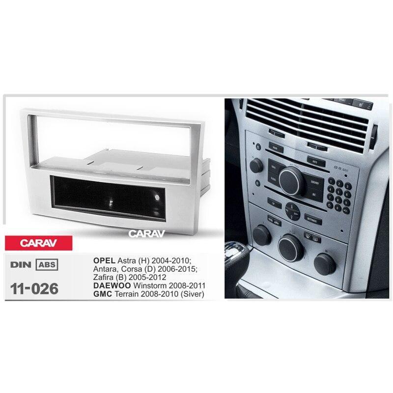 Duplo Fascia Din Para OPEL Astra (H) Antara Corsa (D) zafira Radio DVD Painel Stereo Traço Instalação Montagem Guarnição CARAV 11-026