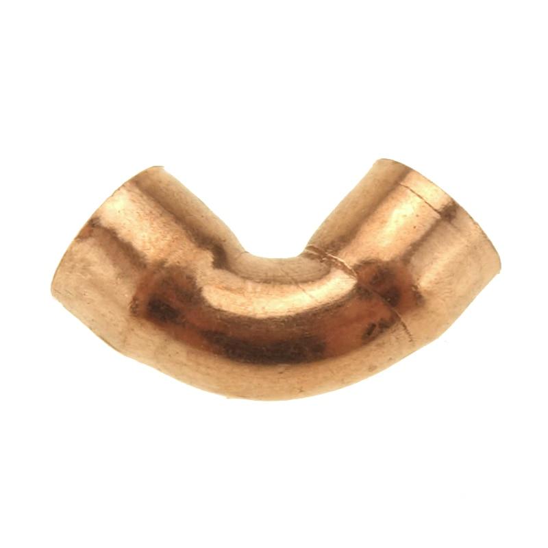 90 градусов локоть Медный Конец подачи фитинг для водопроводных труб для газа воды нефтяной трубы ID 10 мм-22 мм