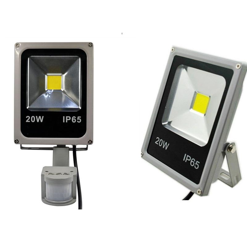 Светодиодные прожекторы с датчиком, 50 Вт, 10 Вт, 20 Вт, 30 Вт, 220 В, прожекторы с датчиком движения, индукционный рефлектор, светодиодное уличное о...