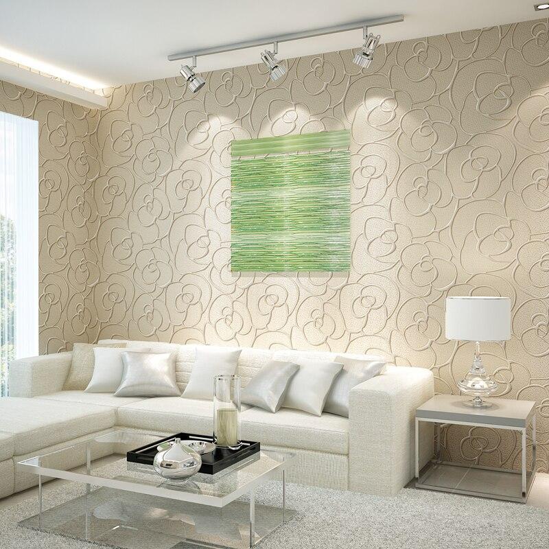 Light luxury Jane stereo 3D relief coining non-woven wallpaper bedroom living room TV backdrop wallpaper