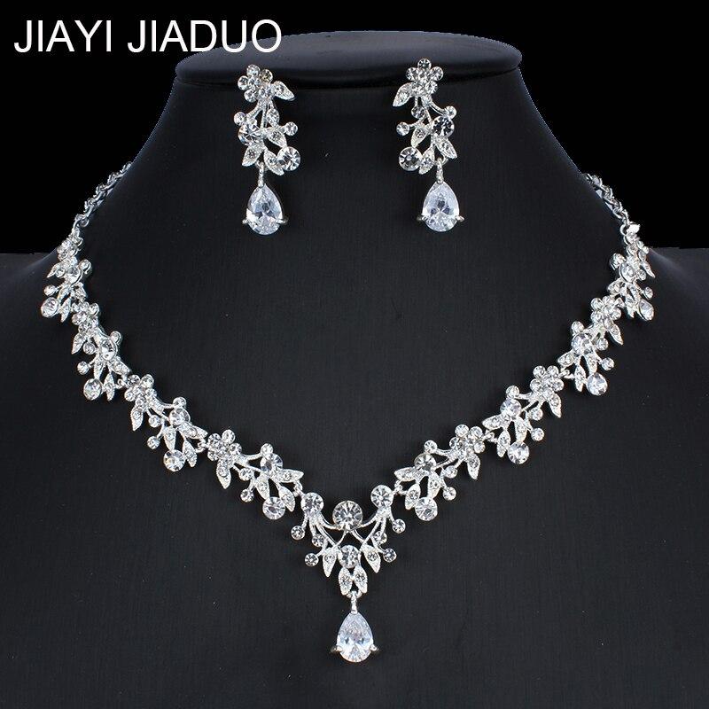 Jiayijiaduo frauen Braut Schmuck Set Hochzeit Schmuck Halskette Ohrringe Set Afrikanische Perlen Schmuck Set