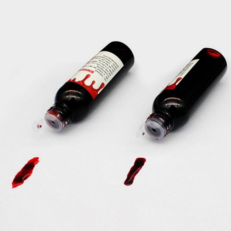 30ml disfraz de Halloween simulación de sangre falsa Ultra realista de dientes humanos vampiro humano accesorios hematopoyéticos vómitos pulpa comestible