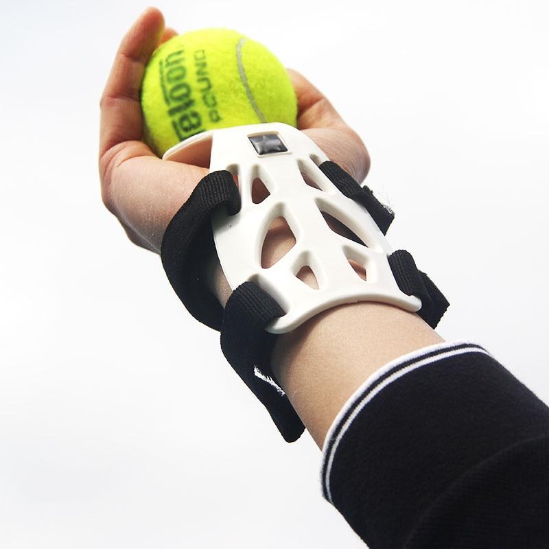 Entrenador de tenis profesional, máquina de servicio de bola, fijación de muñeca, auto-estudio de acción de herramienta de entrenamiento, accesorios de entrenamiento de tenis