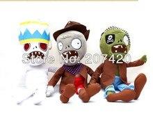 Newest plant vs zombies 2 plush zombies toys,28cm/11inch,3pcs/pack