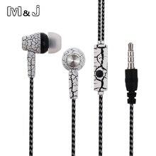 M & J A11 dans loreille fissure écouteur Super profonde basse Studio moniteur stéréo casque musique écouteurs avec Microphone pour PC iPhone Samsung