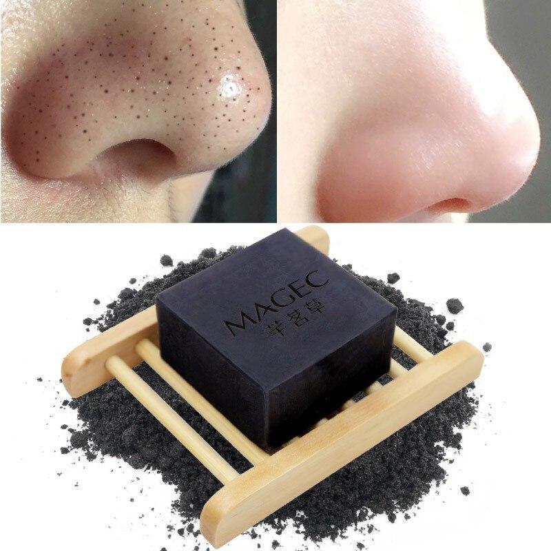 Removedor de carbón espinillas de bambú Natural hecho a mano tratamiento de acné jabón para blanquear la piel jabón lavado de cara cuidado de la piel 5456