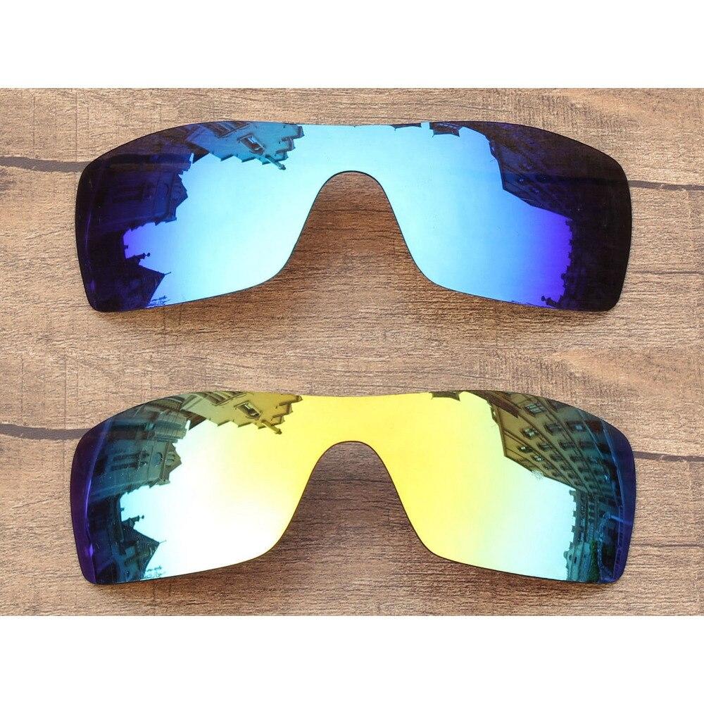 2 piezas de espejo de hielo Vonxyz y lentes de repuesto polarizadas de 24K para marco Oakley Batwolf