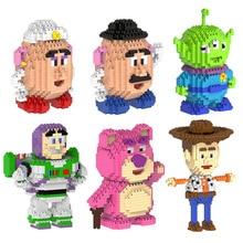 HC Magic building blocks Bear cartoon Building toys Buzz Light year Auction Figures Potato Anime Aline Model Toys for Kids Gifts