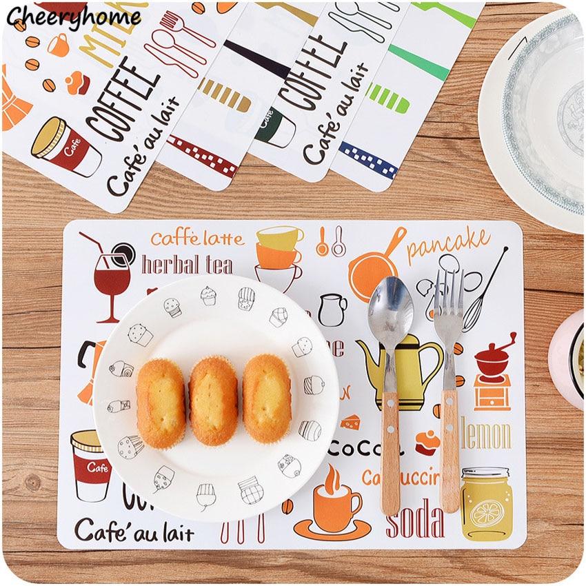 Cheeryhome-salvamanteles de dibujos animados para mesa, Tapete de mesa, vajilla, posavasos, plato,...