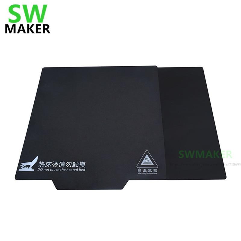 Cinta de cama de impresión magnética 150/200/214/220/235/310mm cinta adhesiva de estampado a cuadros con placa flexible impresora 3D