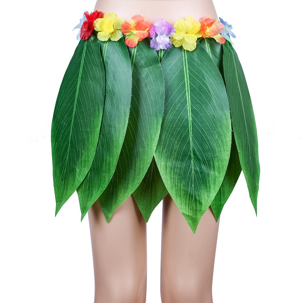 Fiesta decorativa Hula falda estilo Tropical Hawaiano hojas Mini falda verano fiesta DIY Props baile en la playa fiesta de disfraces