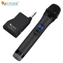 FIFINE UHF système de micro sans fil pour partie extérieure petite barre de scène spectacle en direct famille ktv avec récepteur de Microphone portable k025-1
