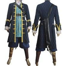 Unisexe Pirates des caraïbes les morts ne racontent aucun conte capitaine Armando Salazar Cosplay Halloween Costume tenue veste manteau