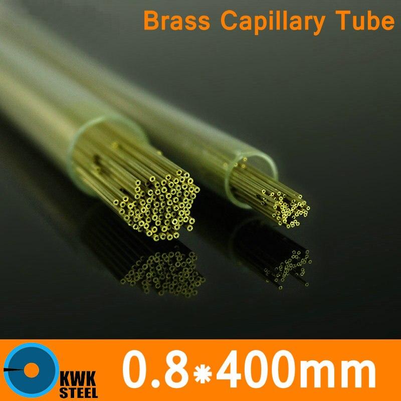 Tubo capilar de latón de longitud OD 0,8mm x 400mm Tubo de diámetro pequeño de ASTM C28000 CuZn40 CZ109 C2800 H62 Material de electrodo