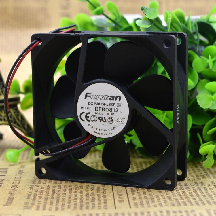 ¡Entrega Gratuita! 8025 12 v 0,08 A 8 cm Fuente de alimentación ultra silenciosa ventilador de la caja de la computadora DFB0812L 2 líneas