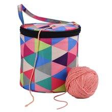 Woolen Yarn Storage Bag Home Crochet Hooks Thread Yarn Storage Case DIY Sewing Kit Bag Travel Organizer Bag For Mom Gift