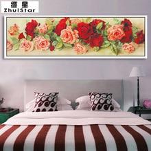 New 5D DIY Diamond Painting Rose Flower Wall Sticker Embroidery Full Square Diamond Cross Stitch Rhinestone Mosaic Painting Gift