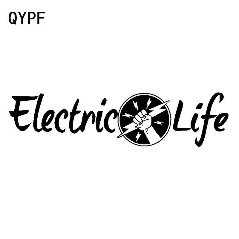 QYPF 18,2 cm * 4,7 cm Diseño Universal carta inclusiones Electric Life Down Zone adaptación vívida vinilo coche pegatina C18-0978