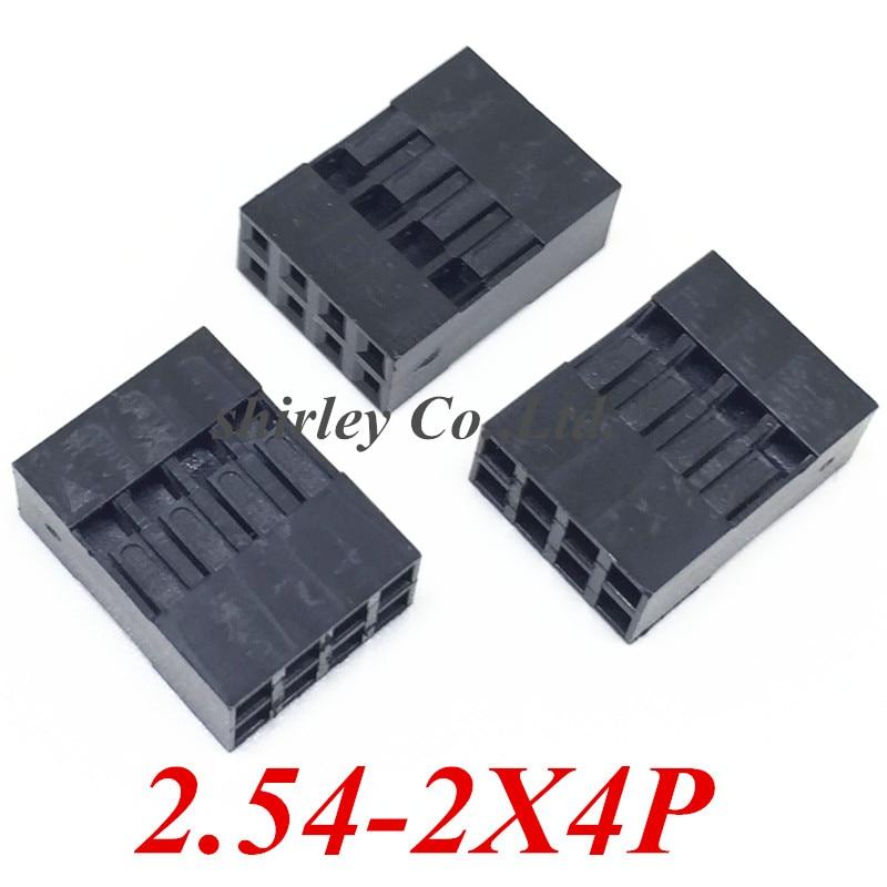 Бесплатная доставка 1000 шт./лот 2x4Pin Dupont Shell /plug,Double, jumper Wire Cable Dupont Housing 2*4P, шаг: 2,54 мм MZSMDZ10