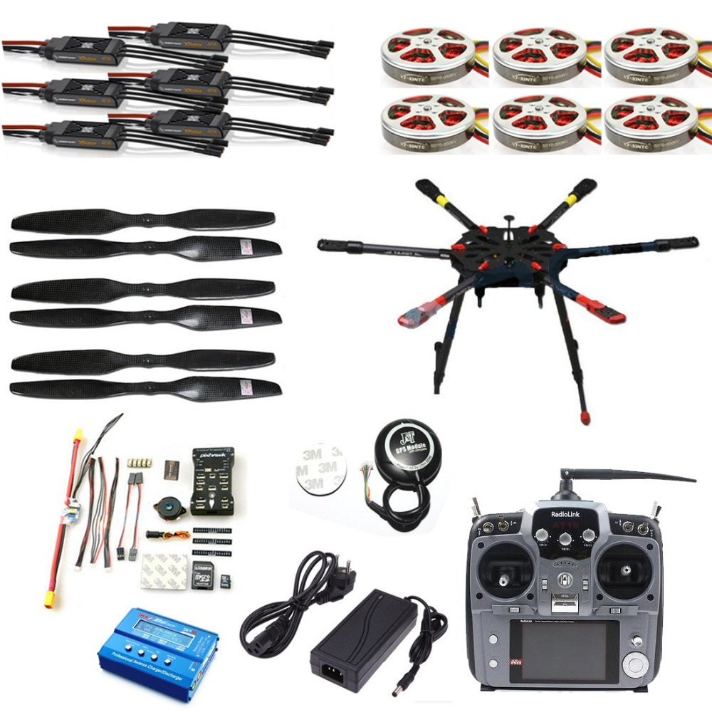 Pro 2.4G 10CH 960mm RC Hexacopter Drone Tarot X6 Folding Retractable PIX PX4 M8N GPS ARF/PNF DIY Unassembly Kit F11283-A/B