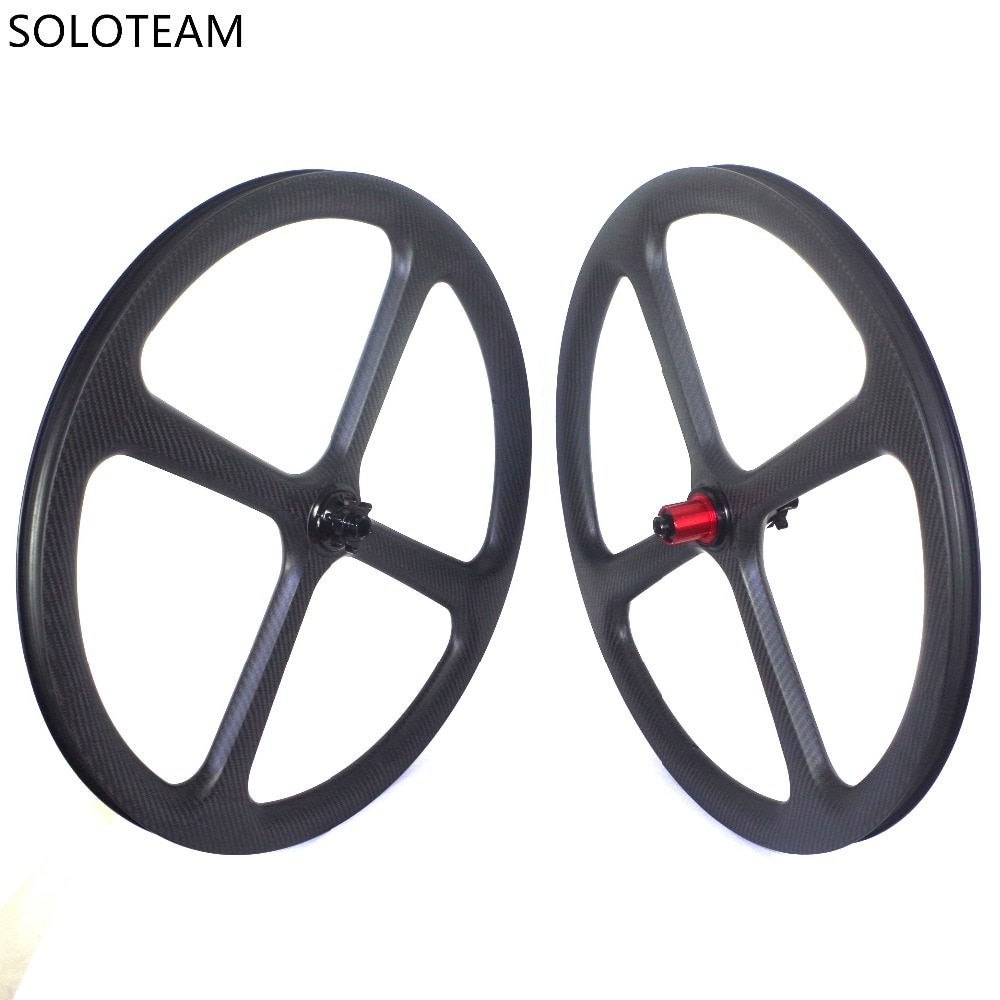 Custom logo 4 spoke 650B mtb carbon fiber wheelset 40 mm depth through axle front 100*15mm rear 142*12mm carbon fiber mtb wheels