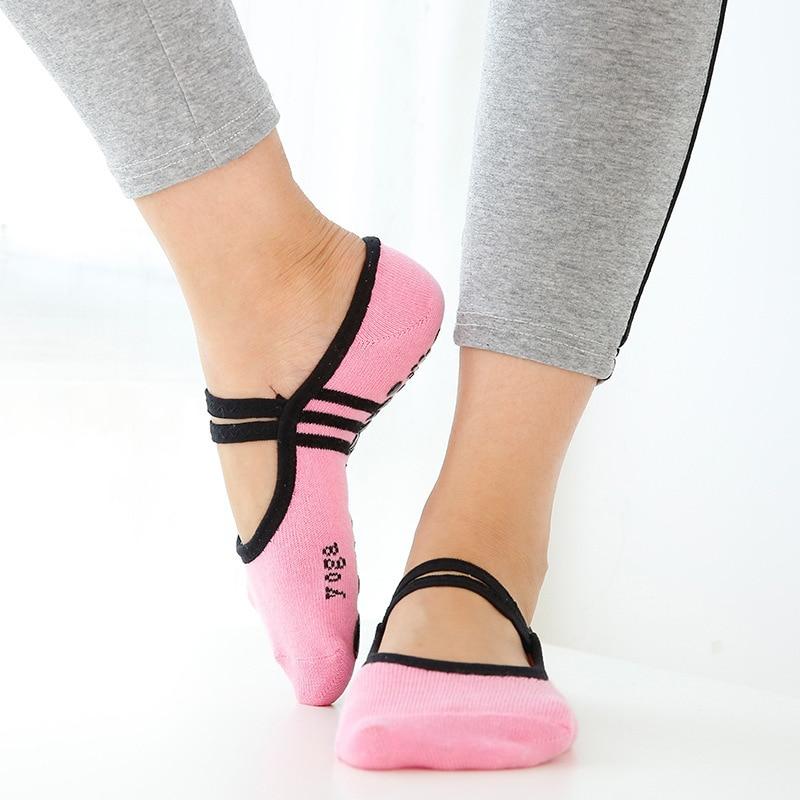 Yoga Pilates Ballet Socks Dance Sock Cycling Socks Anti Slip Bandage Cotton Sports Yoga Socks