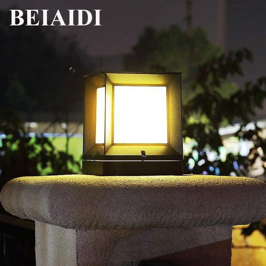 BEIAIDI في الهواء الطلق حديقة عمود مصباح حديقة ساحة السكنية الإضاءة المشهد العمود مصباح للماء الشارع وصمة العار بولارد ضوء