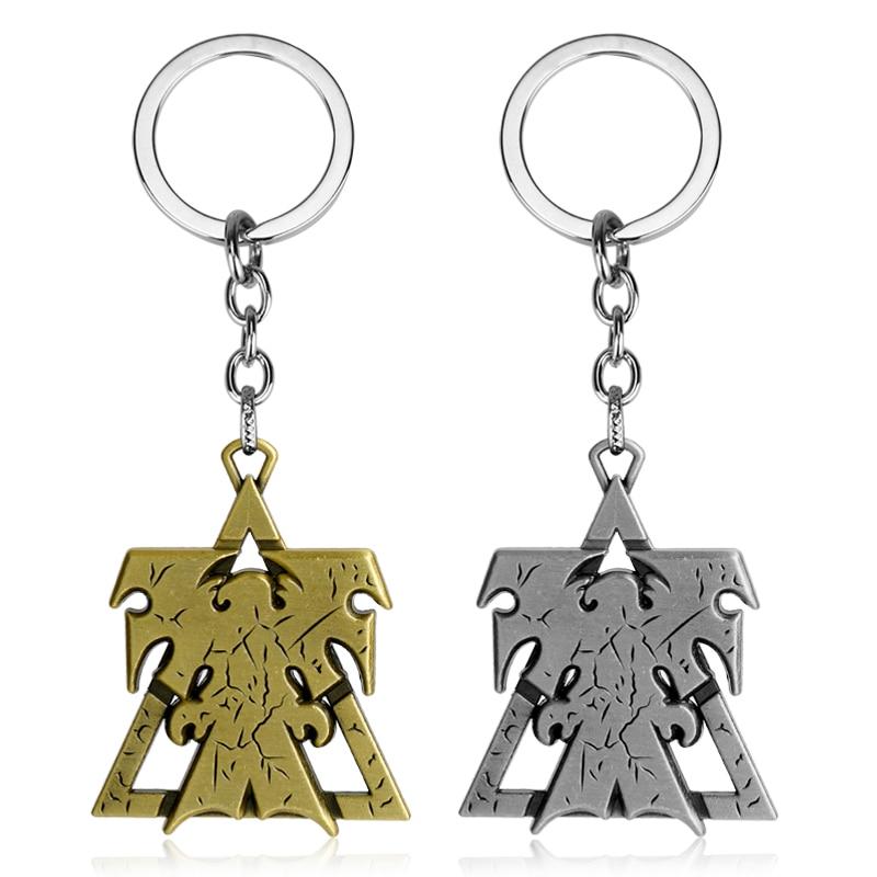 Брелок для ключей MQCHUN StarCraft 2, металлический брелок с логотипом в виде крыльев свободы для мужчин и женщин