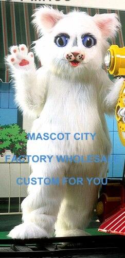 العرف ديلوكس كرة الثلج كيتي زي التميمة الكبار حجم موضوع كرنفال حفلة Mascotte الزي تناسب فستان بتصميم حالم SW968