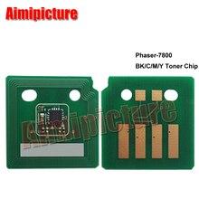 Toner Chip 106R01573 106R01570 106R01571 106R01572 For Xerox 7800 Phaser-7800 BK-24K C/M/Y-17.2K Chip 3Sets 28pcs free shipping