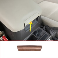 Pine Wood Grain For Toyota Land Cruiser Prado FJ150 150 2010-2018 Car ABS Interior Armrest Handle Sequins Trim Accessories