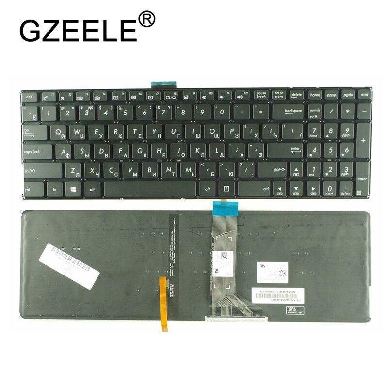 GZEELE-لوحة مفاتيح الكمبيوتر المحمول الروسية ، لـ ASUS K501 K501U K501UB K501UQ K501UW K501UX A501L RU ، إضاءة خلفية بدون إطار