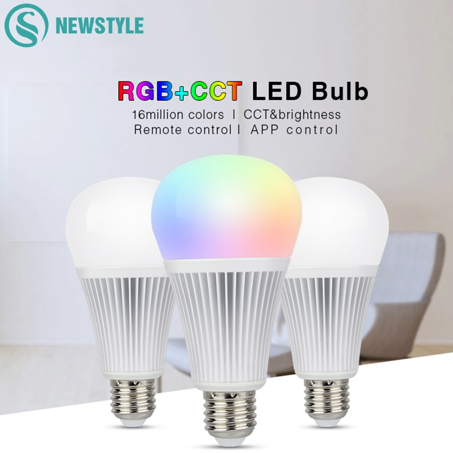 Ми свет затемнения светодиодный лампы 9 W E27 RGBCCT беспроводной Wi Fi контроллер