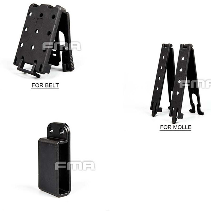 Soporte Universal táctico para montaje en Base de Clip magnético rápido para sistema Molle/Belt, envío gratis
