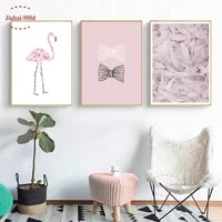 Affiches et peintures a plumes 900D  impression rose douce  images murales pour decoration de maison  toile dart murale  photo NOR42