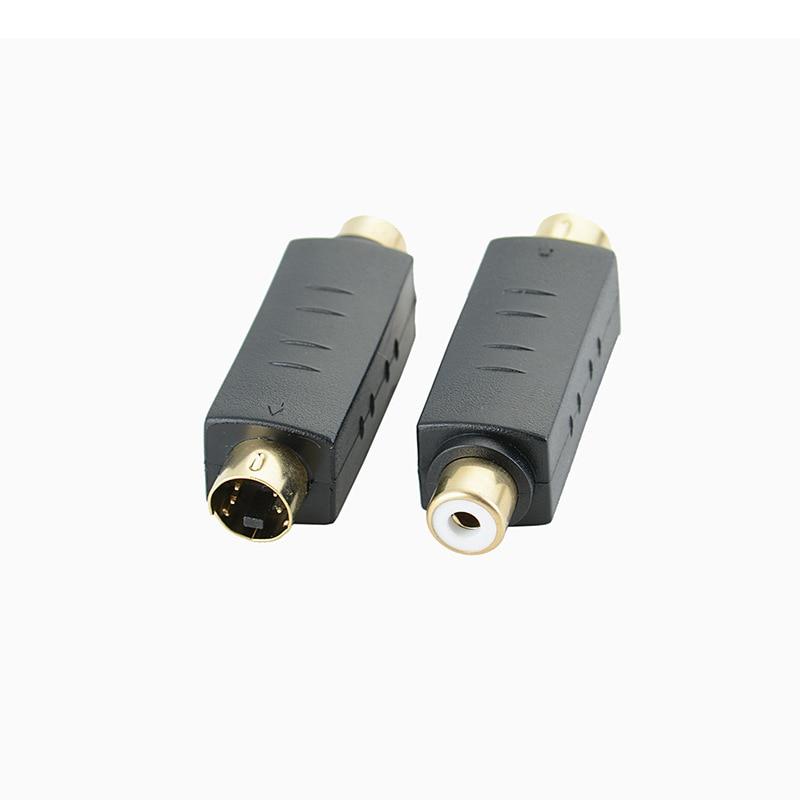 4 PIN S-VIDEO macho a TV RCA AV hembra Cable M A F Pin S adaptador de vídeo