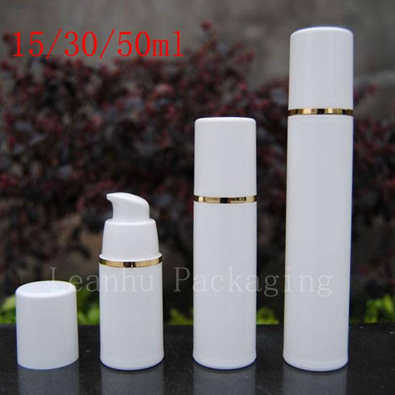 Пустой белый безвоздушный лосьон крем насос пластиковый контейнер, путешествия косметический уход за кожей косметическая бутылка безвозд...