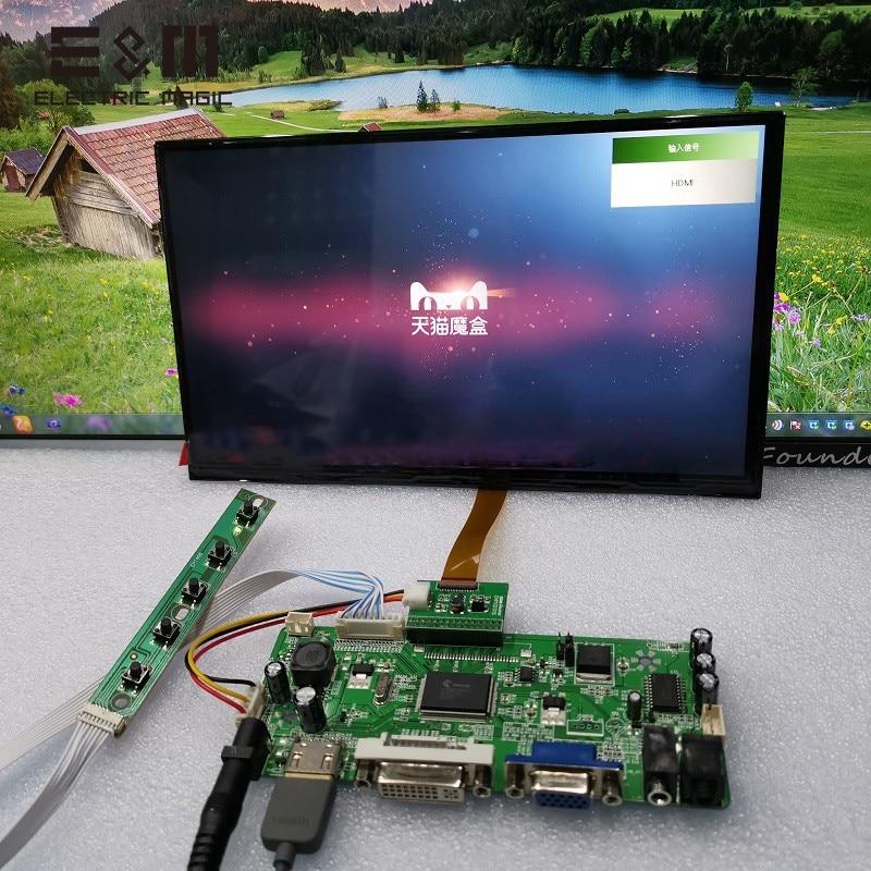 10,1 pulgadas 1366*768 Pantalla táctil IPS Monitor LCD pantalla de juego AV2 reversa prioridad Tablero de Control módulo Kits para Raspberry Pi 3