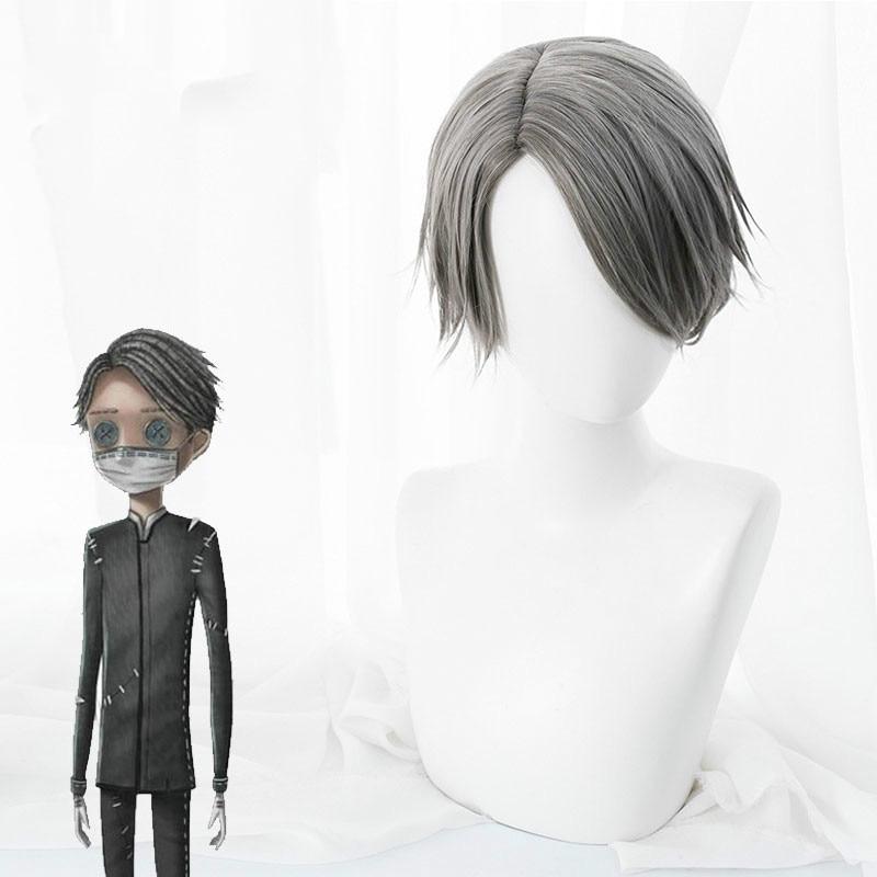 Game Identity V, peluca de Cosplay de Embalmer Aesop Carl, peluca sintética resistente al calor, peluca para fiesta de Halloween