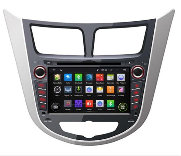 2DIN 7INCH Android OCTA/Quad Core Fit HYUNDAI Verna /Accent/Solaris 2011 -2015 Car DVD Player Multimedia GPS DVD NAVI HEAD UNIT