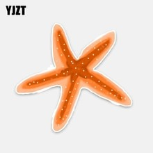 YJZT 15CM*14CM Interesting Starfish PVC Decor Decal Car Sticker Waterproof Accessories 5-0336