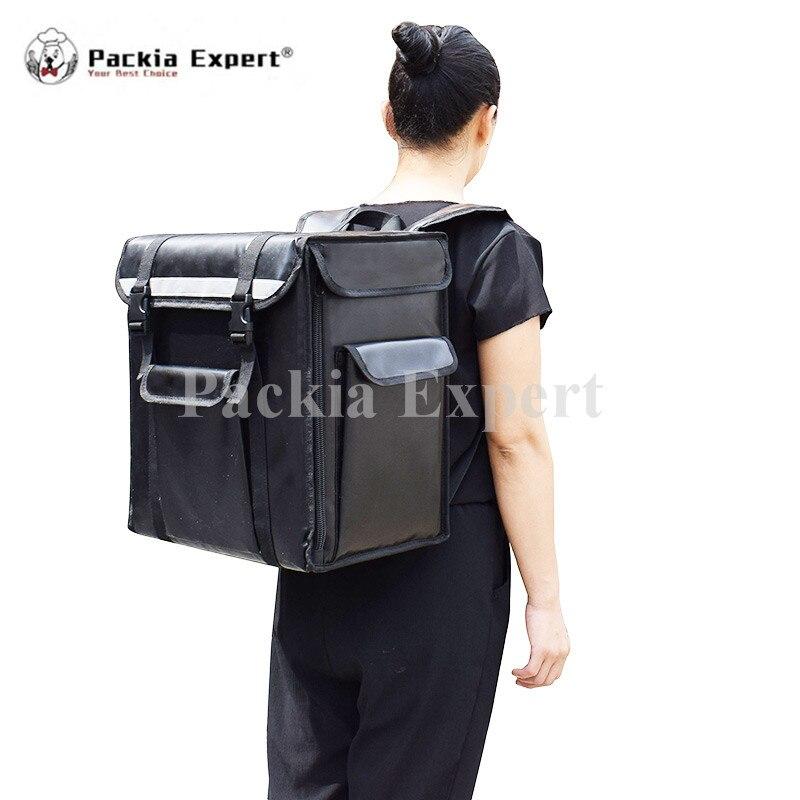 حقيبة توصيل طعام بجزء صلب, ثلاجة معزولة عالية الجودة من المصنع تحافظ على الطعام باردًا وساخن للسكوتر