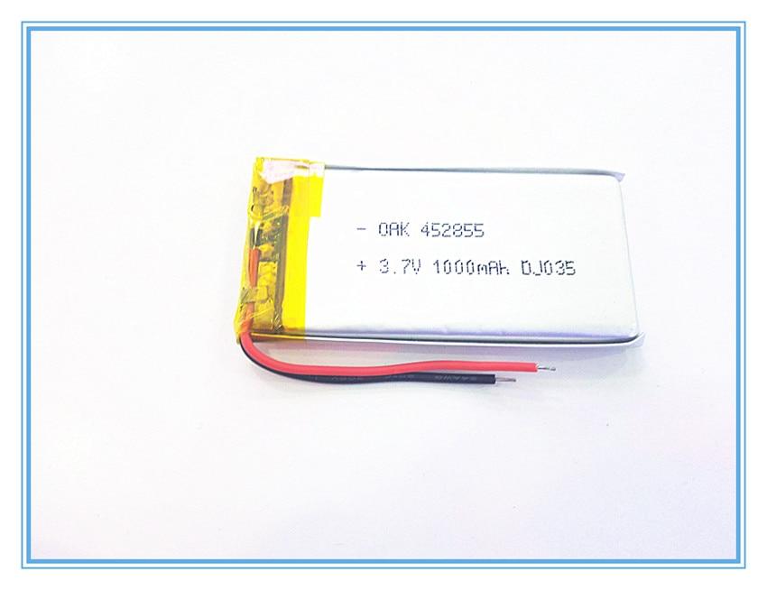 3,7 V, 1000 mAH, [452855] PLIB; polymer lithium-ion/Li-Ion batterie für dvr, GPS, mp3, mp4, handy, lautsprecher