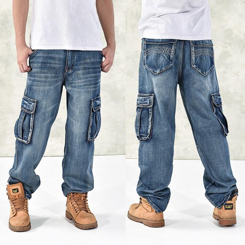 Gran tamaño 42 40-28 5XL-M Hip hop jeans hombres marcas famosas de diseño de alta calidad Skateboard denim jean hombre primavera 2019