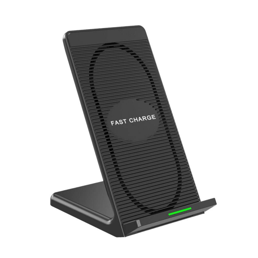 EDAL doble bobinas Qi cargador rápido inalámbrico adaptador de carga rápida inalámbrico soporte con ventilador de refrigeración para iPhone 8 X samsung S8
