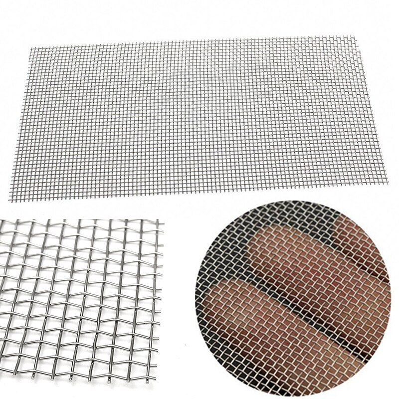 5/8/20/30/40 Mesh Stainless Steel Woven Cloth Screen Wire Filter Sheet 6x12''