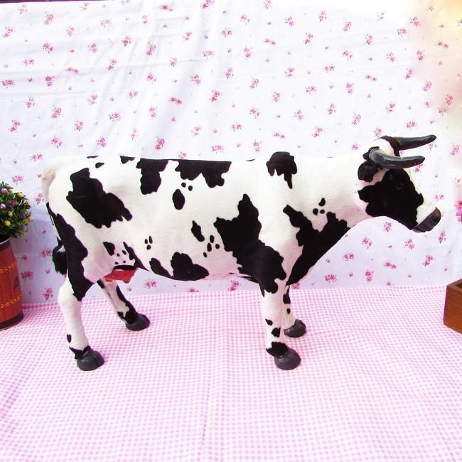 toy model 50x30cm Simulation animal cow toy scene layout polyethylene & furs resin handicraft,ornaments decoration baby toy A789